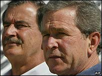 George W. Bush y Vicente Fox.