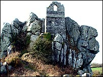 Hermit's Chapel on Roche Rock