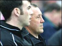 Eamon Coleman (left) pictured with his assistant boss Martin McElkennon