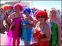 Revellers at Brighton Pride 2004