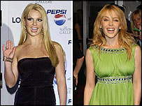 Britney Spears and Kylie Minogue