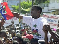 Guy Philippe feted by supporters in Port-au-Prince