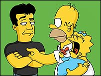 Simon Cowell on The Simpsons