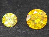 The two diamonds for Mrs Tandy's daughters