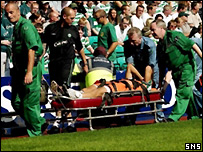 Petrov is carried off on Sunday