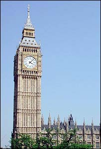St Stephen's tower holds the Big Ben bell