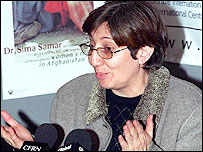 Sima Samar, head of the Afghan human rights commission