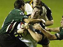Jonny's brother Mark plays for the Newcastle Falcons