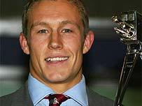 Jonny smiles after being crowned BBC Sports Personality of the Year 2003