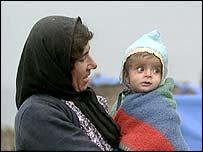 Iraqi Kurdish woman and child