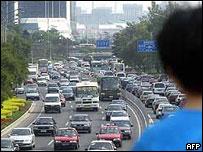 Beijing rush-hour traffic