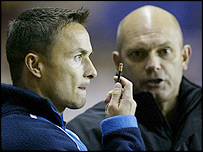 Former Millwall player-manager Dennis Wise and assistant Ray Wilkins