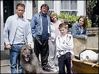 The Miller family in EastEnders
