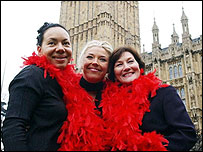 Oona King MP, Tamara Beckwith and Joan Ruddock MP