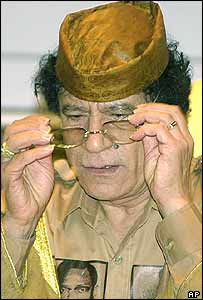 Colonel Gaddafi, at last month's African Union summit in Sirte