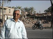 Head of Bam city council, Abbas Ismaili (Picture by Lucy Williamson)