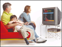 A family using TiVo's television recorder