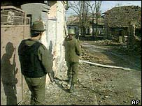 Yugoslav soldiers in Vukovar