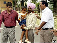 Jagsir Singh with his daughter