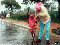 A mother and daughter in Cape Town