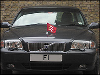 'F1' numberplate