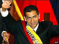 Lucio Guti�rrez, presidente de Ecuador