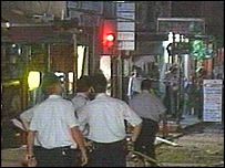 Scene after the hotel blasts