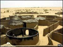 Burned village in Darfur
