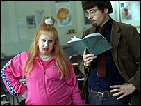Vicky Pollard and teacher from the BBC's Little Britain