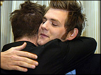 Brian McFadden and Mark Feehily