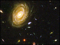 Spiral galaxy viewed in the Hubble Ultra Deep Field, Nasa