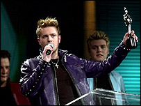 Westlife at the Brits