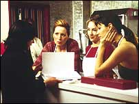 Director Sue Heel with cast members in School for Seduction - pic Ipso Facto