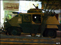 Armoured personnel carrier in Riyadh