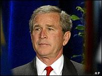 George W Bush in Arlington, Virginia