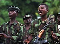 A company of Congolese rebel soldiers (1998 file photo)