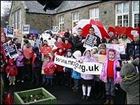 Protest at Borthwick