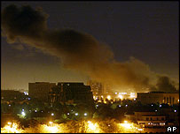 Baghdad under the bombs