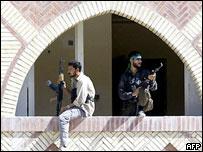 Fighters in Najaf
