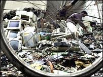 E-waste dump, AFP