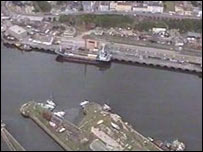 Aerial view of Milford Haven