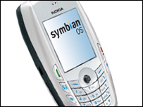Smartphone running Symbian operating system