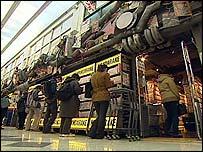People browsing at Mandarake stall in Tokyo