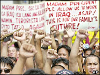Workers protesting in Manila (11/8/04)