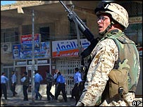 US marine in Najaf