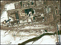 Satellite photo of Yongbyon nuclear reactor