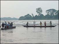 The Wagenya people of the Democratic Republic of the Congo on the River Congo