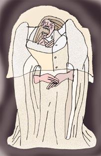 La llorona (Ilustraci�n: Oswaldo Dumont)