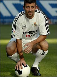 Real Madrid defender Walter Samuel