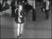 Milly Dowler captured on CCTV at Weybridge station on the day she vanished